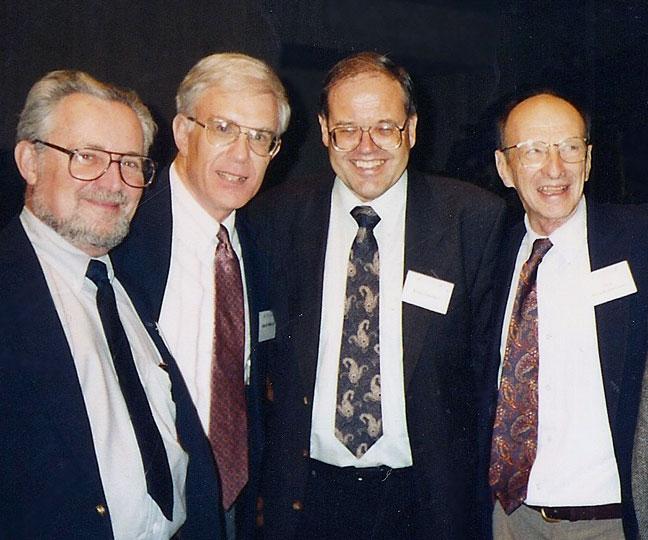 Elder with colleagues