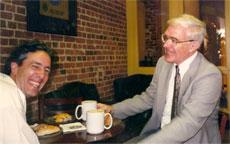 Elder relaxing with Av Caspi before he received Young Investigator Award at Toronto APA