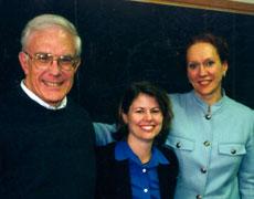 Happy Day for Kristi Long, Public Health, (middle) at dissertation defense! On her left, Elder and on her right, Professor Clipp (Colerick), Duke Nursing.
