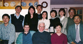 Selected members of Life Course Workshop at Academia Sinica, Taipei, Taiwan – Presentation by Elder and hosted by Professor Chin-Chun Yi, sitting next to Elder, with his youngest son, Jeffrey – March, 2003.